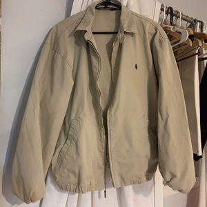 Khaki Ralph Lauren Polo Jacket Men's Large Tan